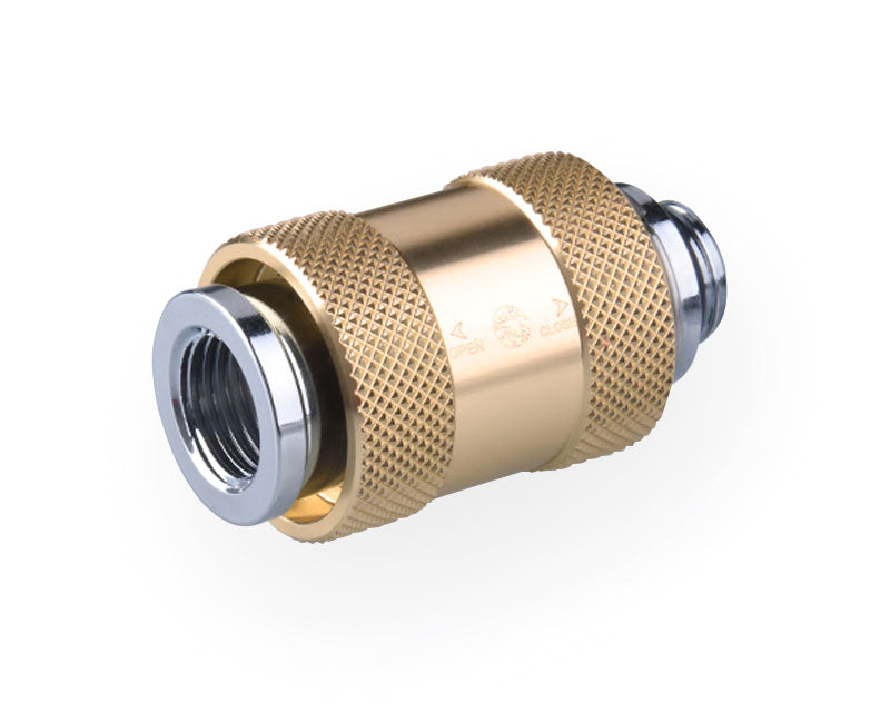 Bykski G1/4 Male to Female Pull Drain Valve (CC-HP-X-V2) - Gold