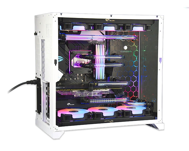 Bykski Distro Plate for Lian Li PC-O11 w/ Double 360 Radiator - PMMA HEX w/ 5v Addressable RGB (RBW) (RGV-LAN-O11-D360-HEX)