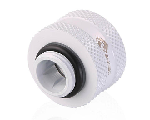 Bykski Rigid 16mm OD Fitting V2 - White (B-HTJV2-L16)