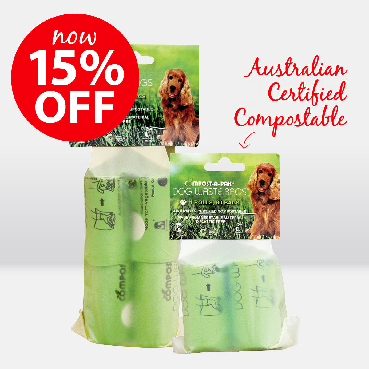 Compost-A-Pak Home Compostable Biodegradable Dog Poop Bags ON SALE NOW