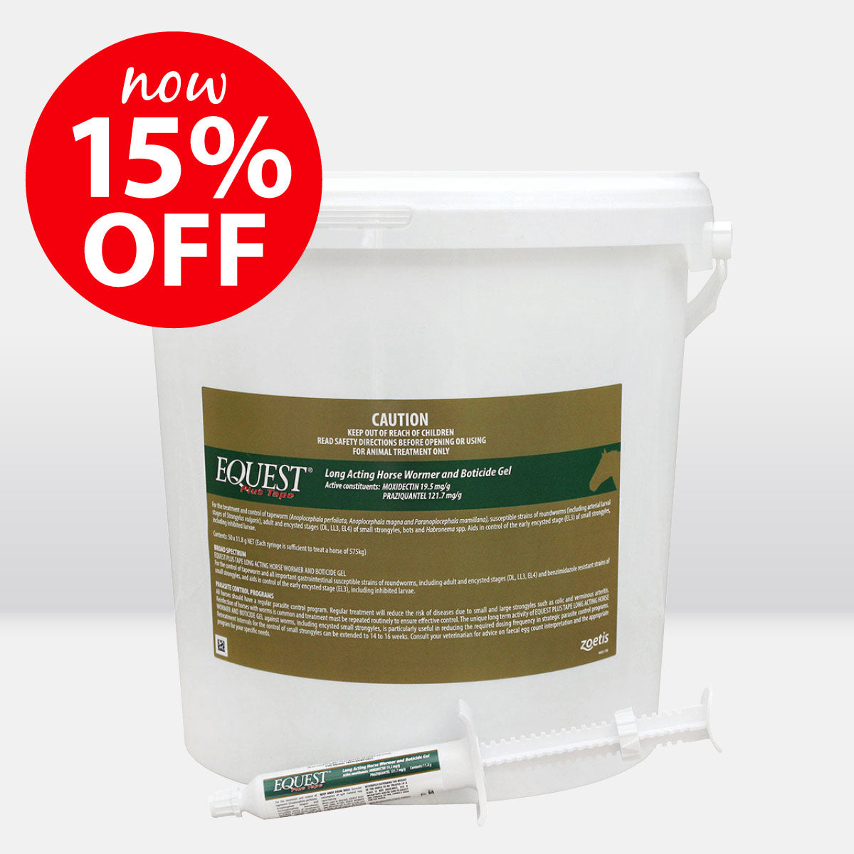 Equest Plus Tape Long Acting Horse Wormer Stud Bucket 50 Tubes ON SALE NOW