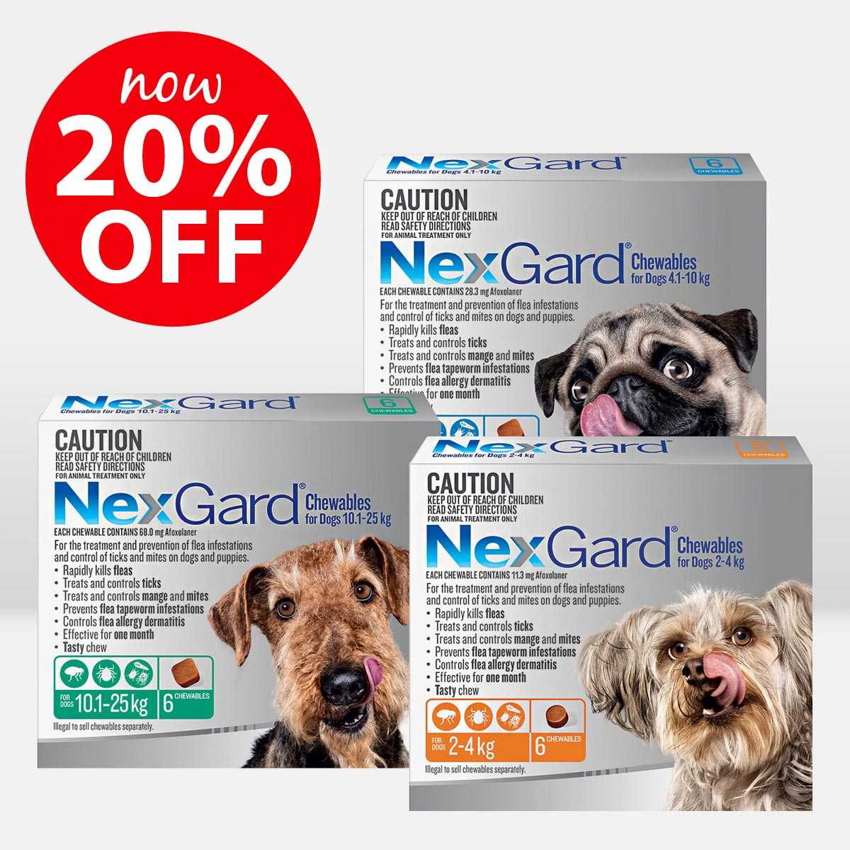 NexGard Chews for Dogs ON SALE