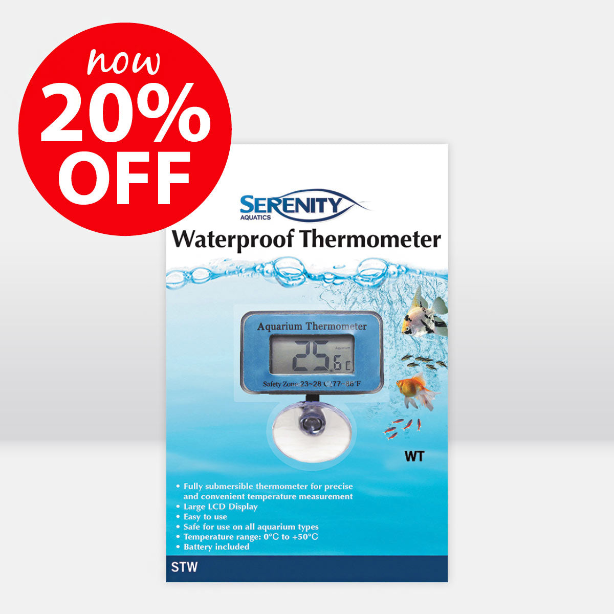Serenity Aquatics Waterproof Thermometer ON SALE NOW