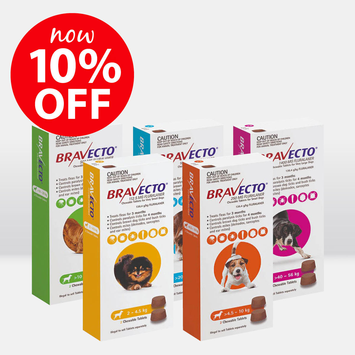 Bravecto Chewable Flea & Tick Treatment for Dogs ON SALE NOW
