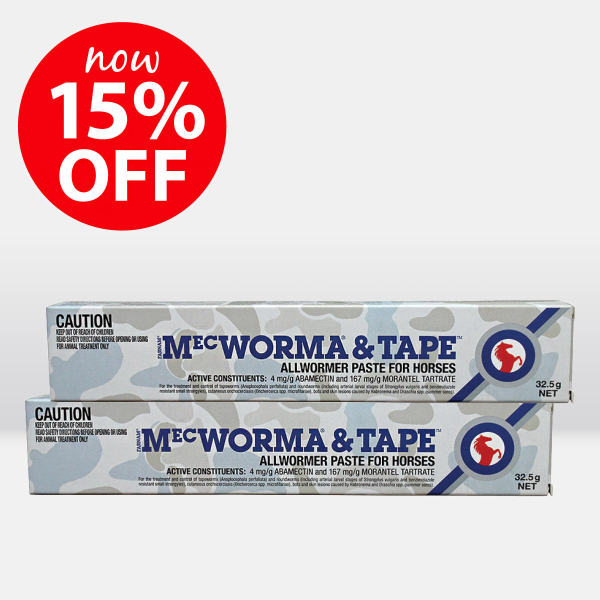 MecWorma & Tape Allwormer Paste for Horses 32.5g ON SALE