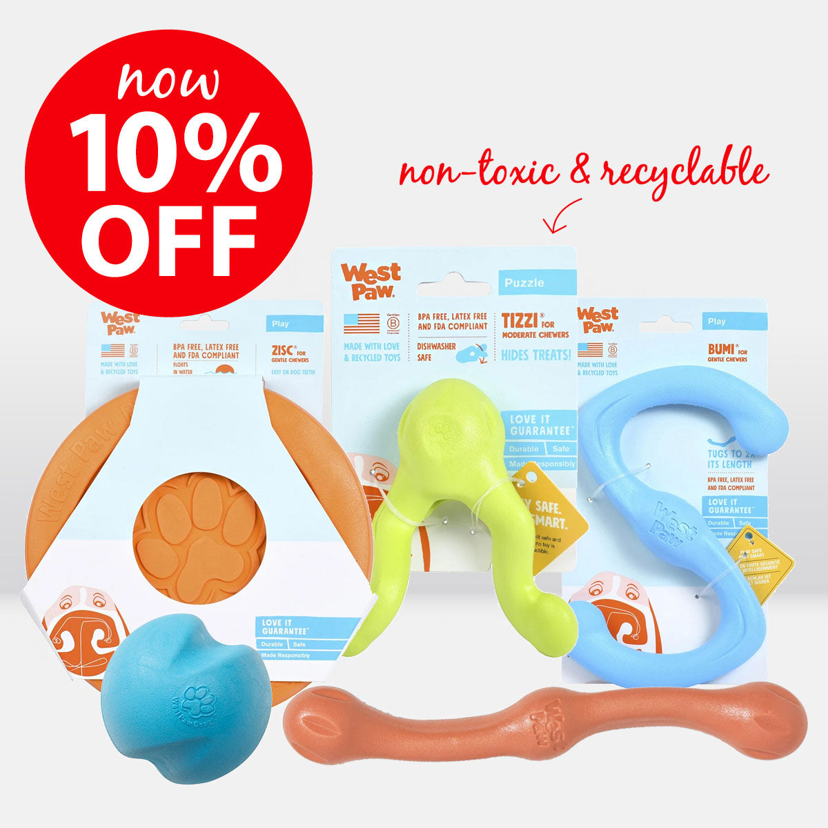 West Paw Dog Toy Range ON SALE
