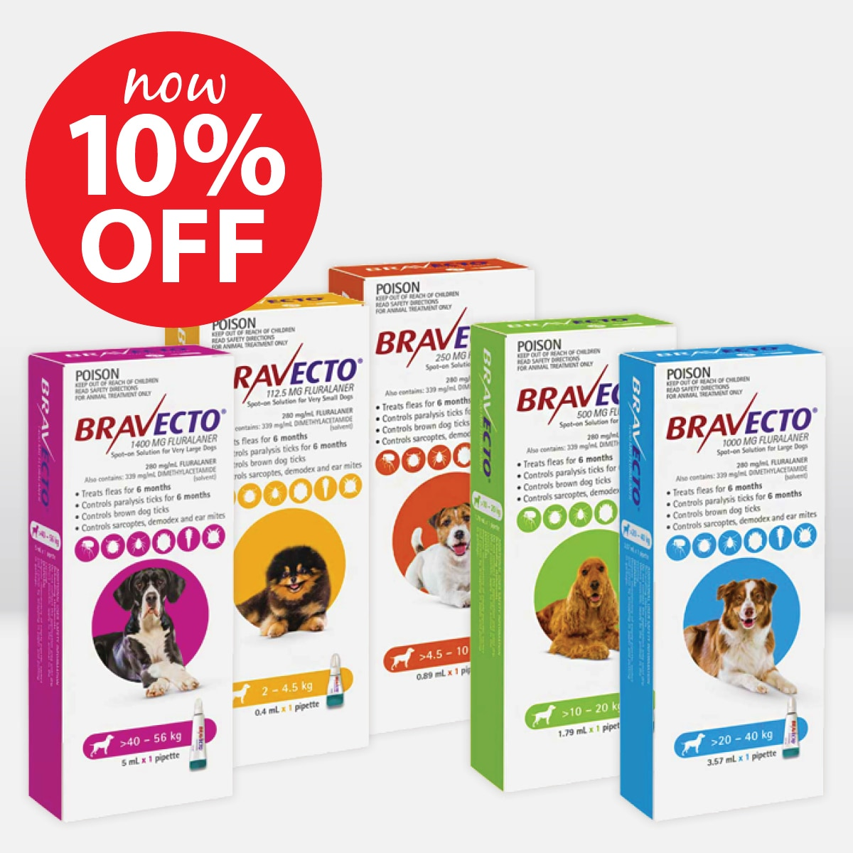 Bravecto Spot-On for Dogs ON SALE NOW