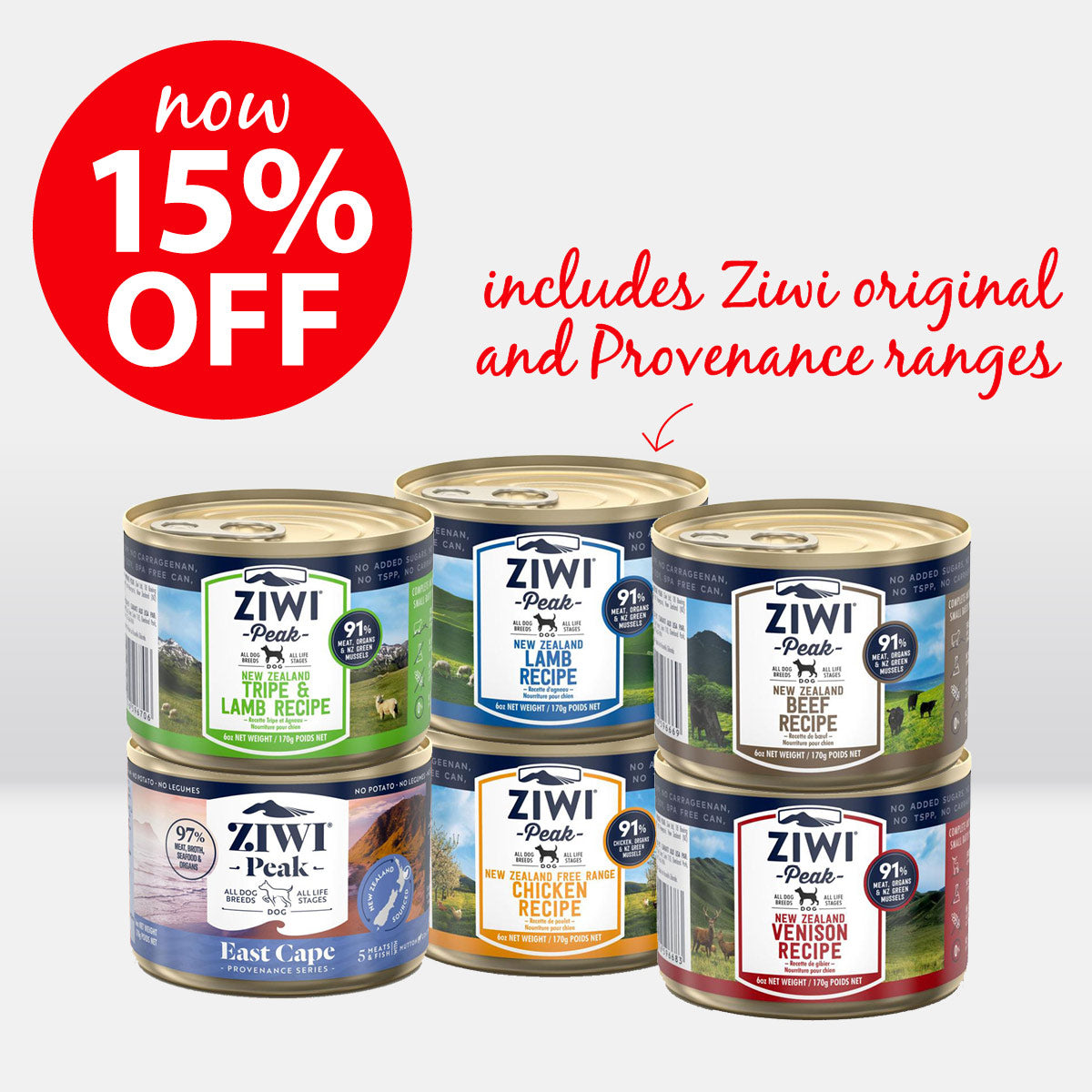 ZIWI Peak Canned Food for dogs ON SALE