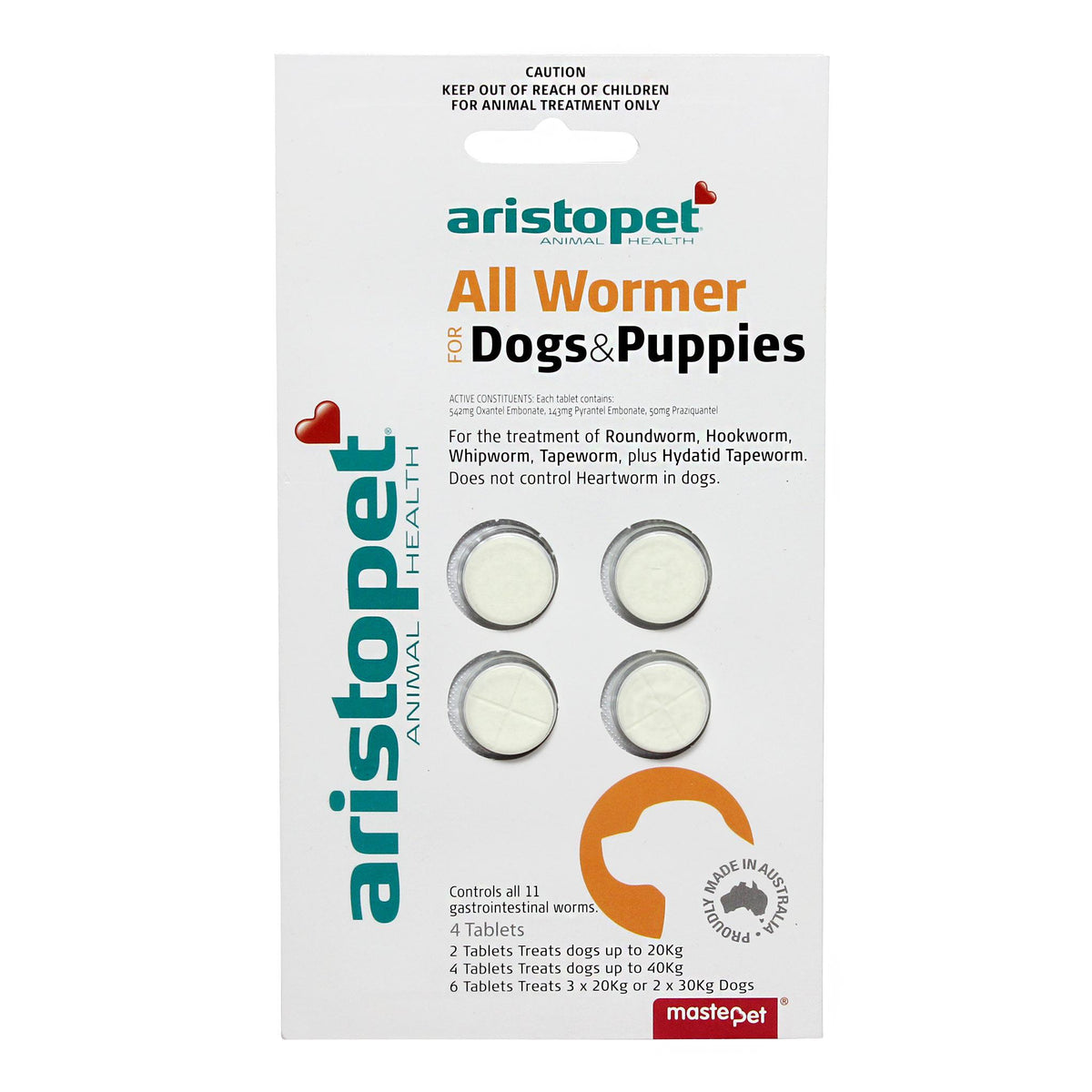 Aristopet All Wormer Tablets for Dogs & Puppies
