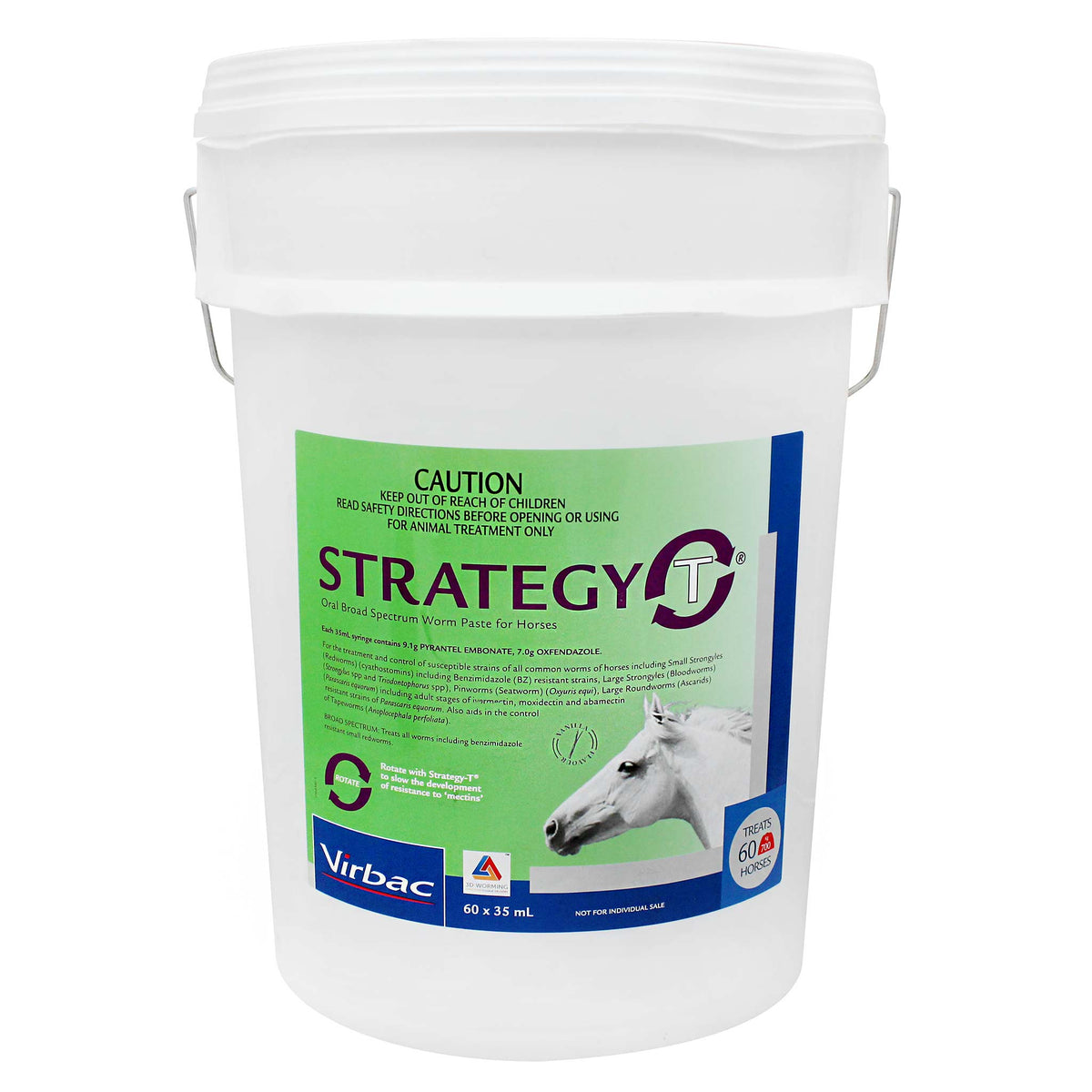 Strategy-T Broad Spectrum Wormer Stable Pail 60 tubes