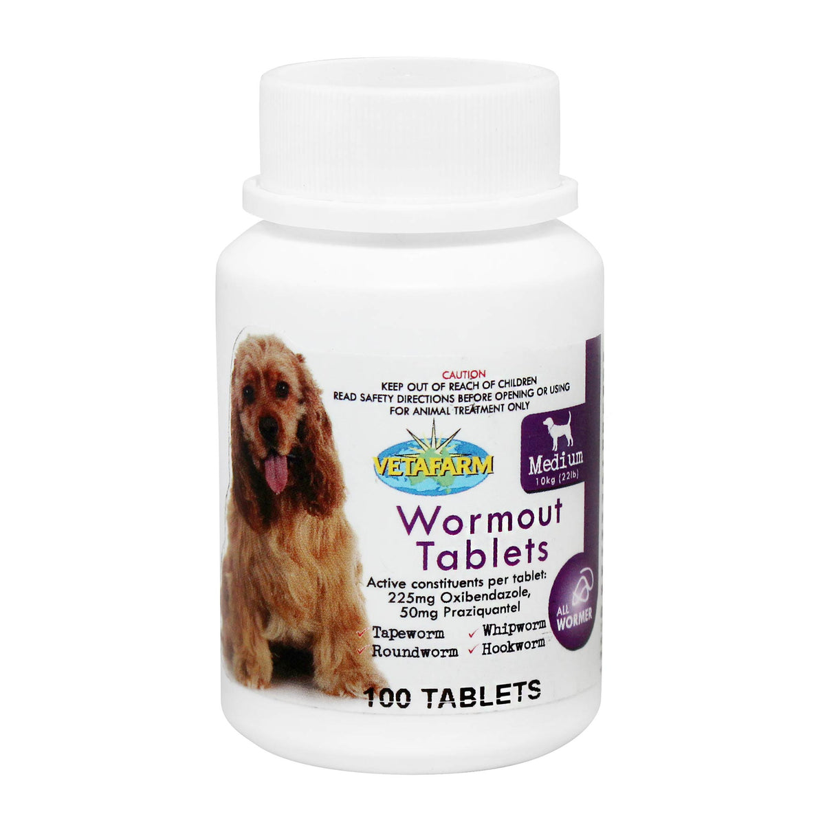 Wormout Tablets for Dogs - EXPORT ONLY