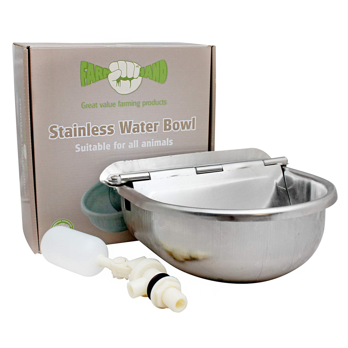 Farmhand Stainless Steel Water Drinking Bowl