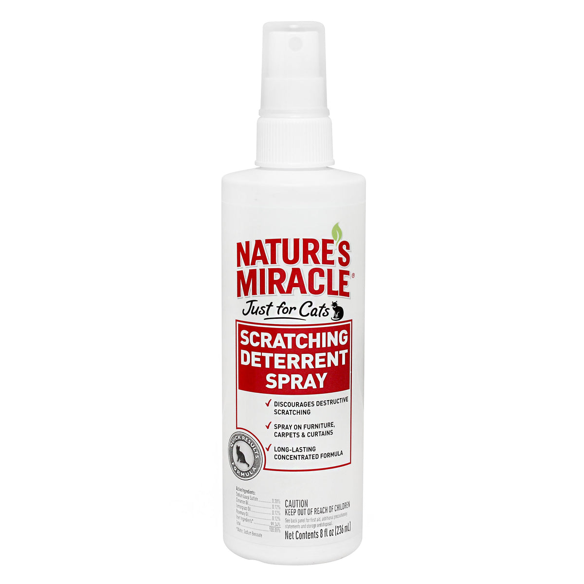 Nature's Miracle  Just for Cats Scratching Deterrent Spray 236mL