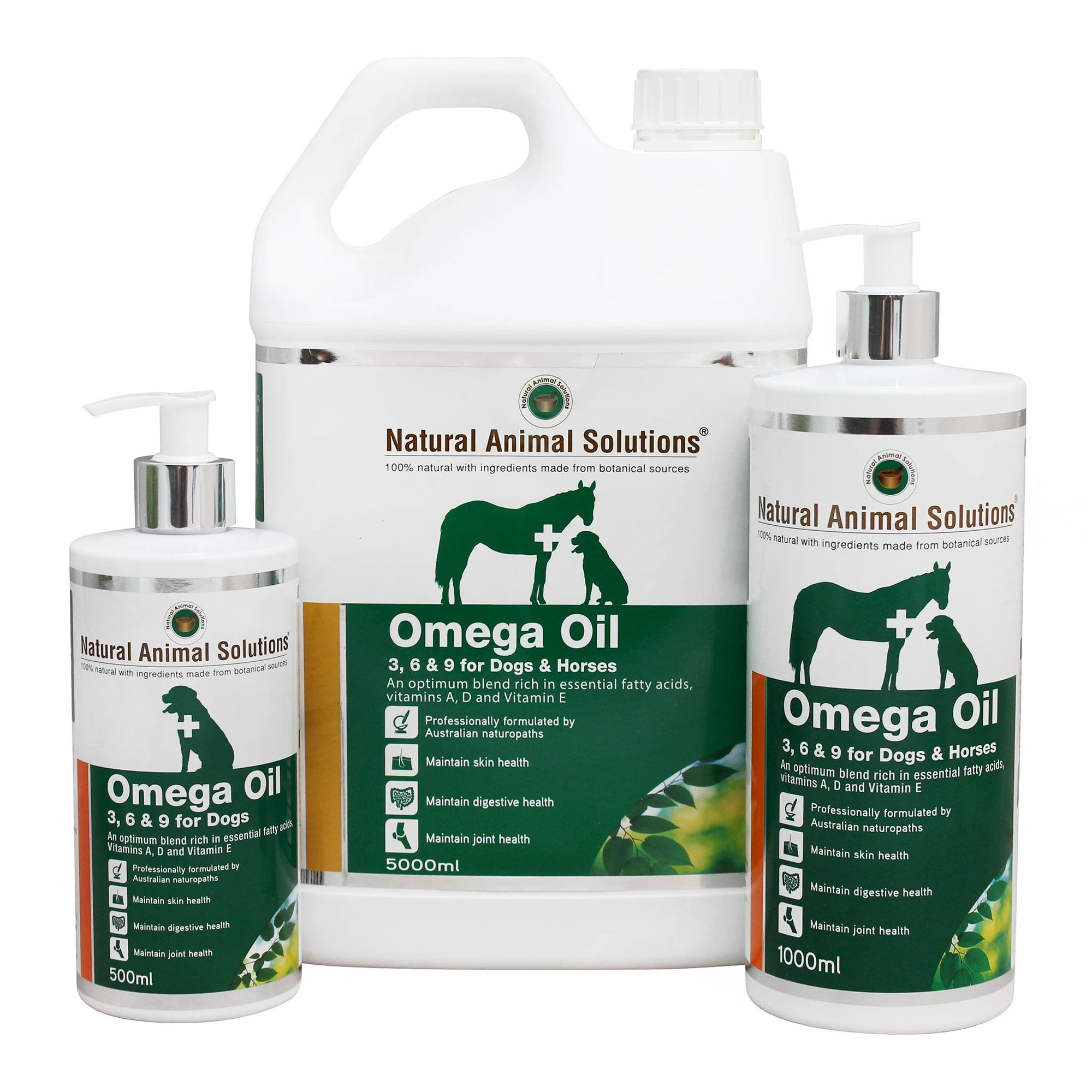Natural Animal Solutions Omega 3, 6 & 9 Oil for Dogs and Horses