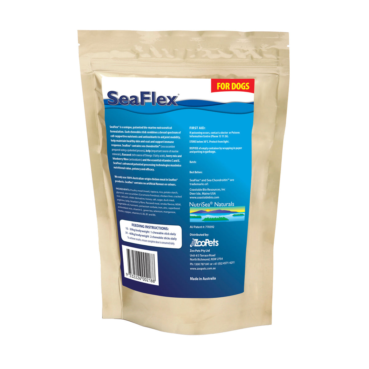 SeaFlex Joint, Skin & Vitality Health Supplement for Dogs 450g