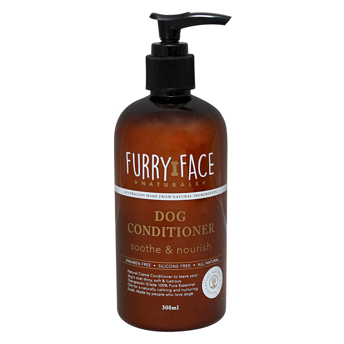Furry Face Naturals Dog Conditioner - Soothe Nourish 300mL
