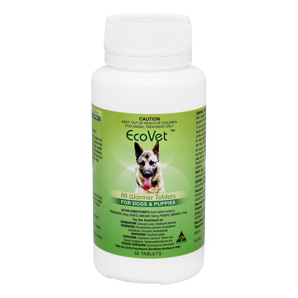 EcoVet All Wormer Tablets for Dogs and Puppies