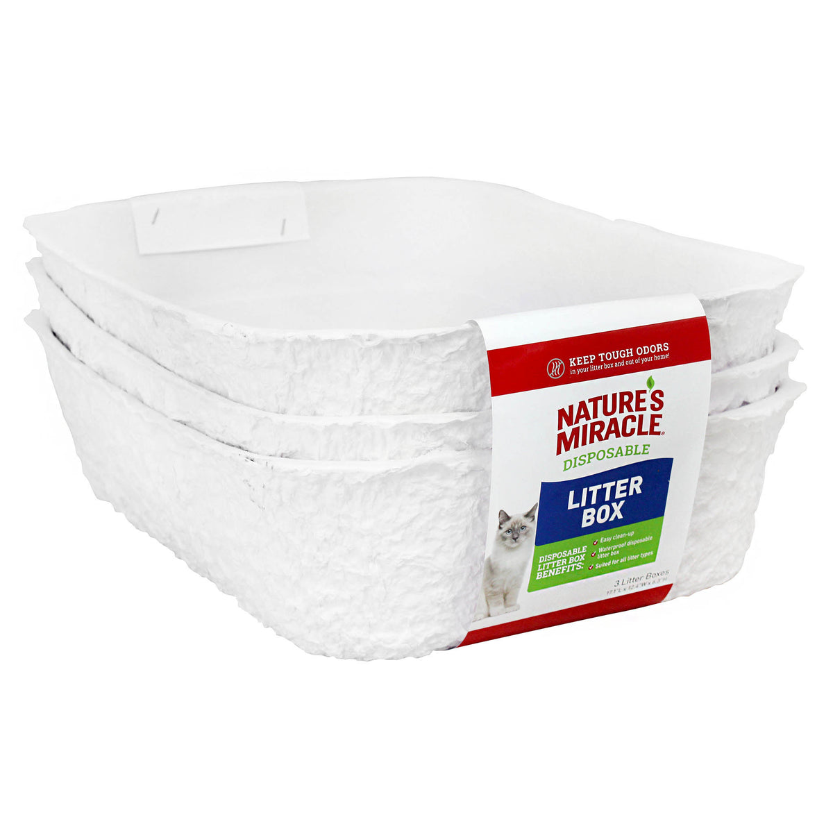 Disposable Cat Litter Tray - 3 Pack