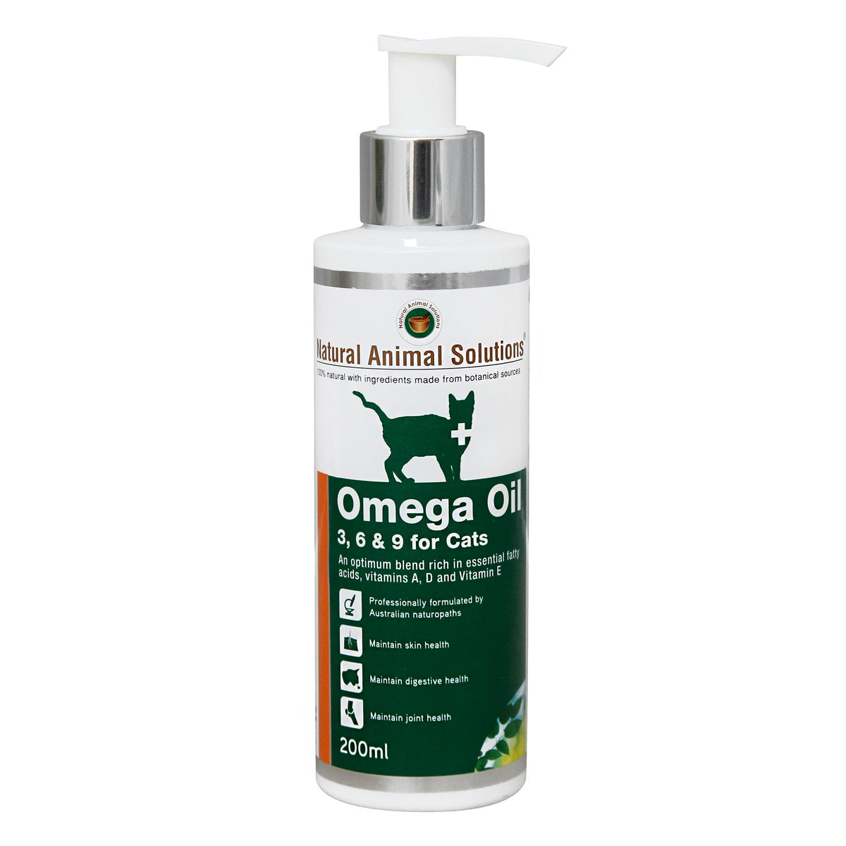 Natural Animal Solutions Omega 3, 6 & 9 for Cats 200mL
