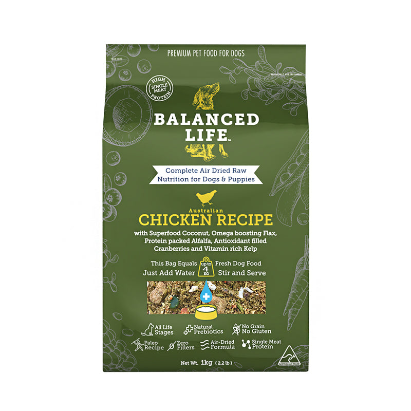 Balanced Life Canine Air Dried Chicken Recipe