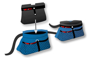 Black Dog Treat Pouch Sock Liner