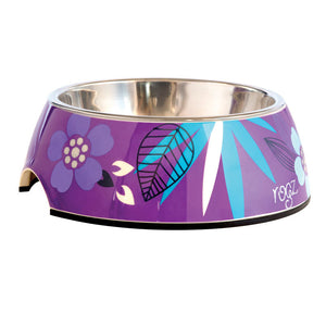 Bubble Melamine and Stainless Steel Dog Bowl