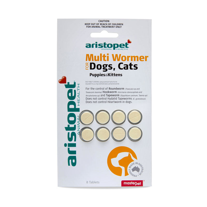 Aristopet Multi Wormer Dogs, Cats, Puppies, Kittens - 8pk