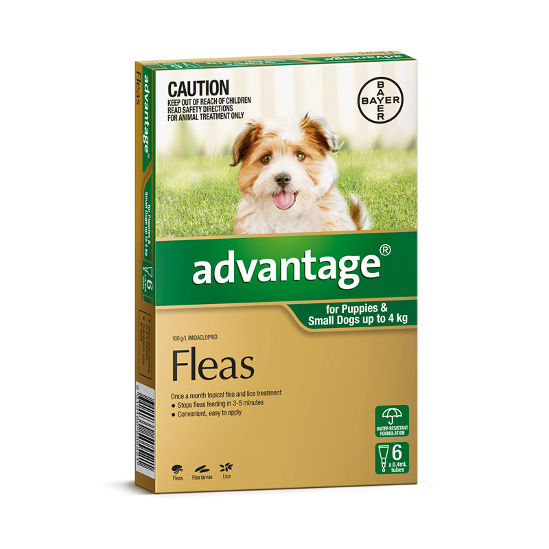 Advantage for Dogs & Puppies Under 4kg