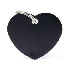 Basic Aluminium Heart Pet ID Tag