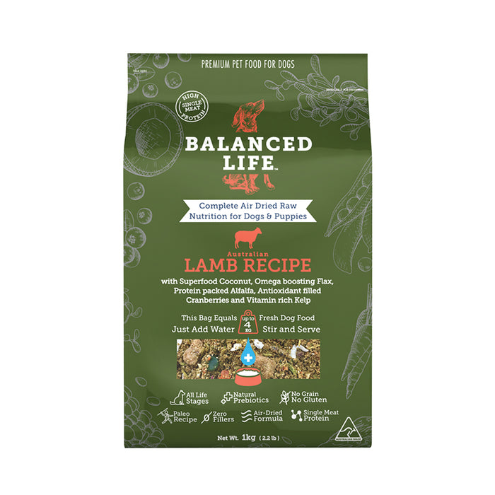 Balanced Life Canine Air Dried Lamb Recipe