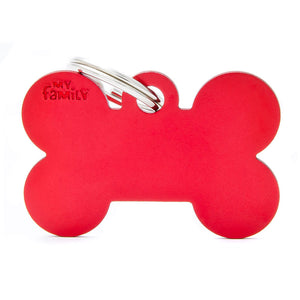 Basic Aluminium Bone Pet ID Tag