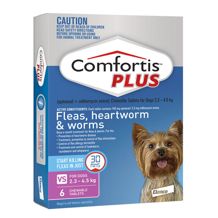 Comfortis PLUS for Very Small Dogs 2.3 to 4.5kg