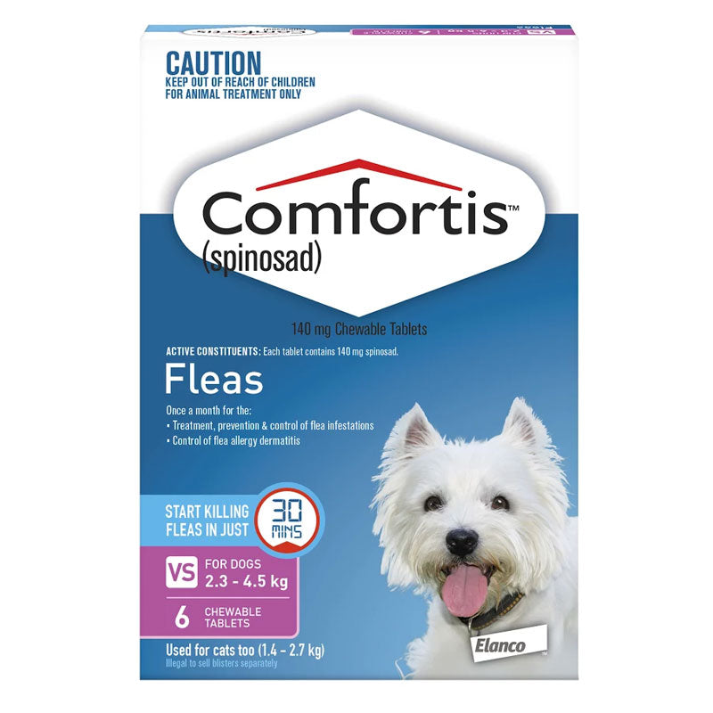 Comfortis Flea Treatment for Cats 1.4-2.7kg (Pink)
