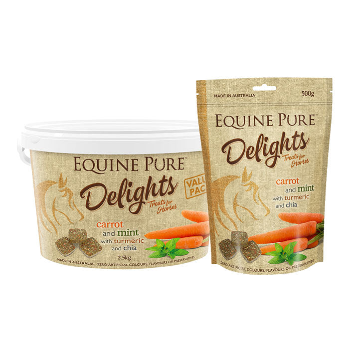 Equine Pure Delights Carrot & Mint Treats