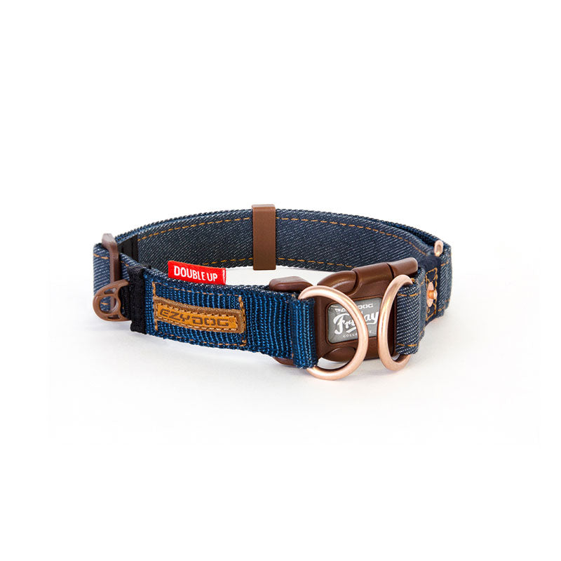 EzyDog Denim Double Up Collar