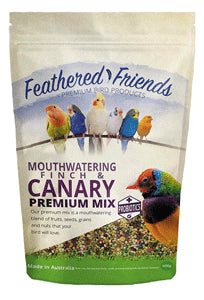 Feathered Friends Mouthwatering Finch & Canary Premium Mix