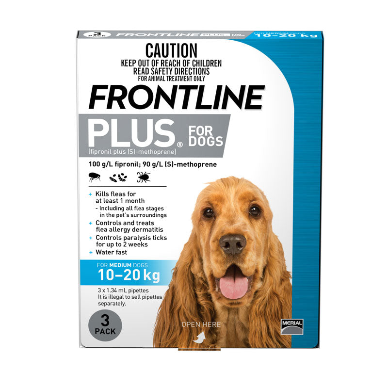 Frontline Plus for Medium Dogs 10 to 20kg (22-44lb)