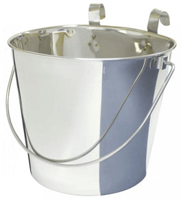 ZEEZ Stainless Steel Flat Sided Bucket Pails