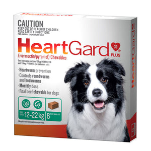 HeartGard Plus Chewables Green - for Dogs 12-22kg