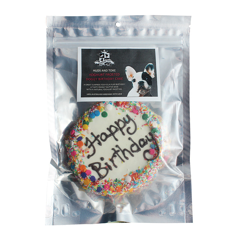 Huds & Toke Yoghurt Frosted Doggy Birthday Cake - 12cm