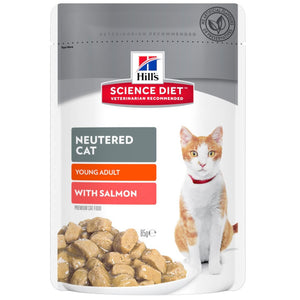 Hill's Science Diet Feline Neutered Young Adult w/Salmon 85g x 12