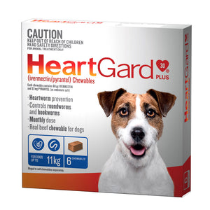 HeartGard Plus Chewables Blue - for Dogs 0-11kg