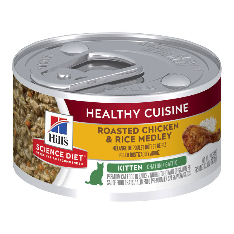 Hill's Science Diet Kitten Roasted Chicken & Rice Medley 79g x 24