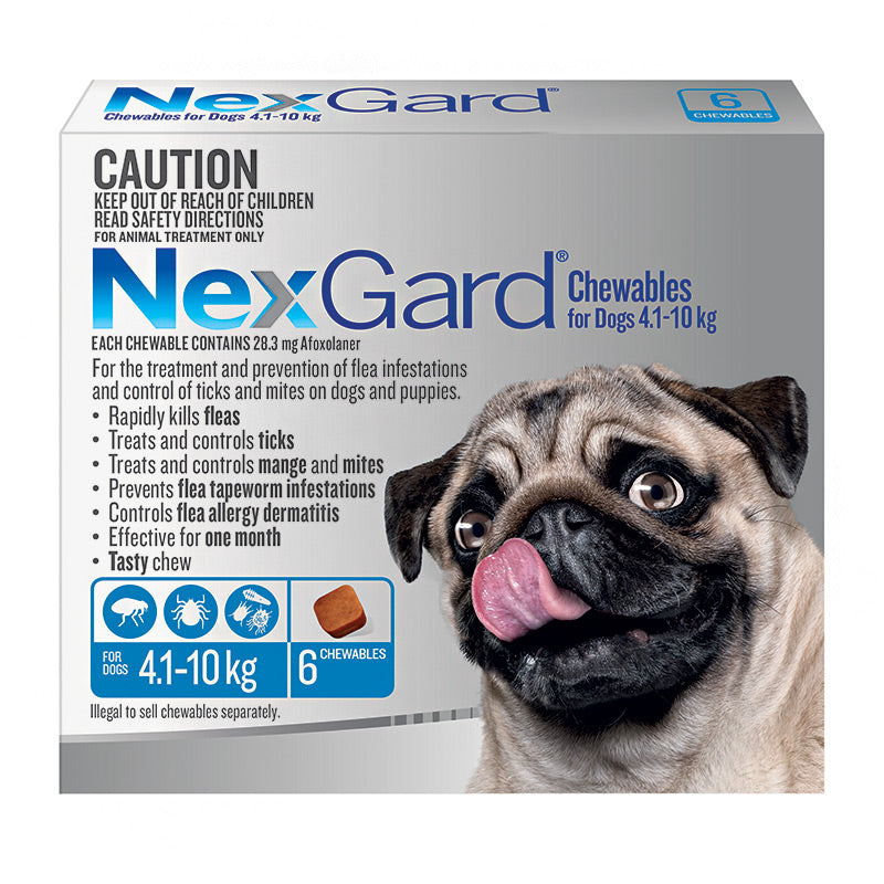 NexGard Chews for Medium Dogs 4.1-10kg