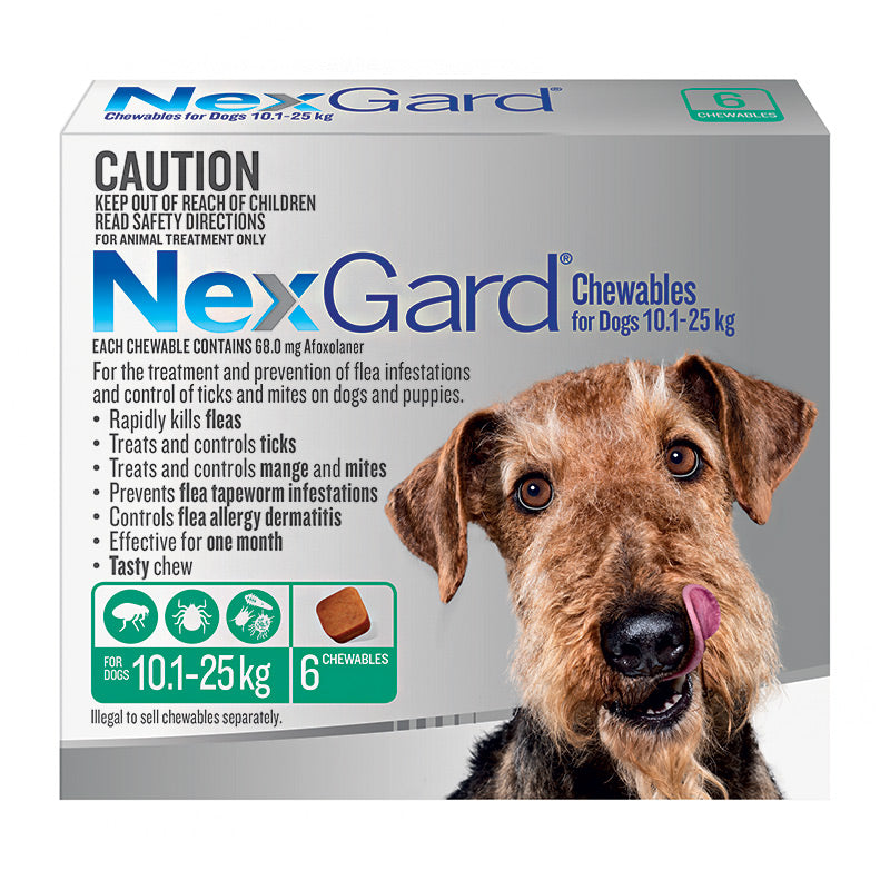 NexGard Chews for Large Dogs 10.1-25kg