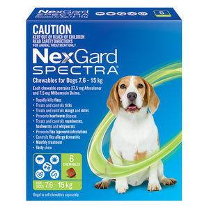 NexGard Spectra for Dogs 7.6-15kg