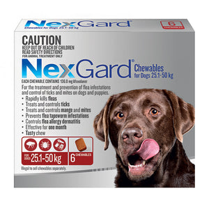 NexGard Chews for XLarge Dogs 25.1-50kg