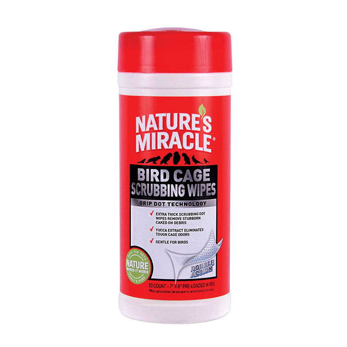 Nature's Miracle Bird Cage Scrubbing Wipes - 30 Wipes