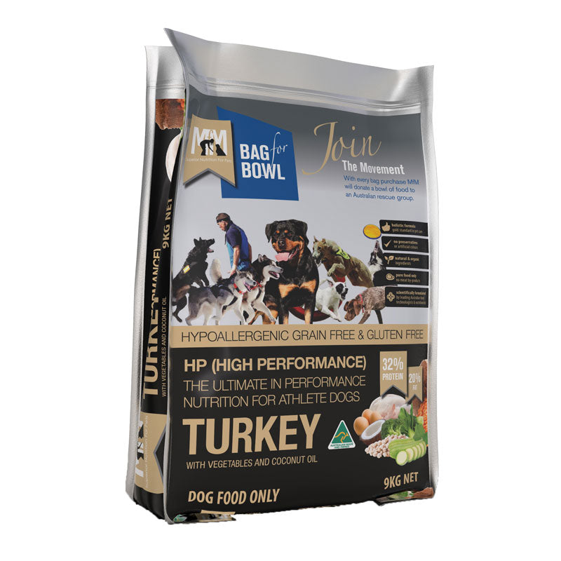 Meals For Mutts HP (High Performance) Grain Free Gluten Free Turkey  with Vegetables