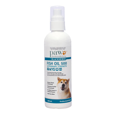 PAW Fish Oil 500 Omega 3 - Veterinary Strength